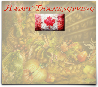 Canadian Thanksgiving with Flag 1