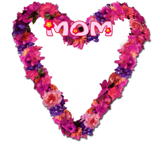 Mother's Day heart frame