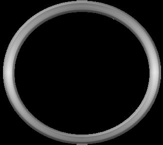 Round metal frame