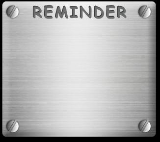 Reminder metal