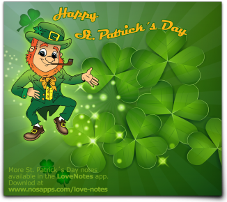 St. Patrick's Day Notes